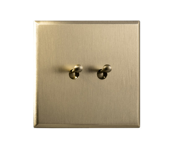 Regent - Brushed brass - water drop lever by Atelier Luxus | Toggle switches