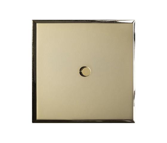 Regent - Mirror brass - Round push button by Atelier Luxus | Push-button switches