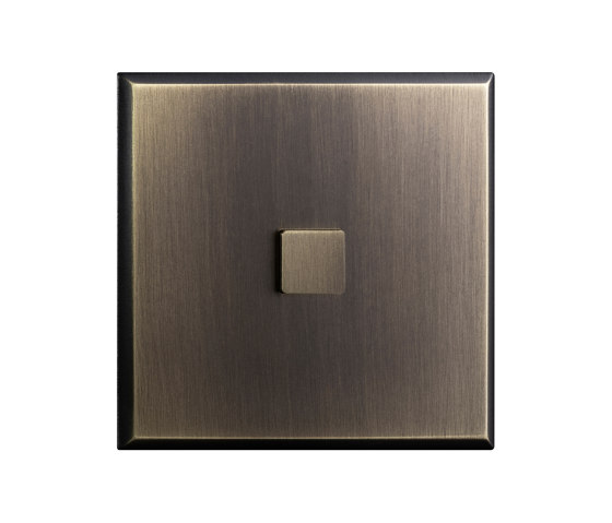 Regent - Old gold - Large square push button by Atelier Luxus | Push-button switches