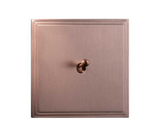 Tiara - Brushed copper - Water drop lever by Atelier Luxus | Toggle switches