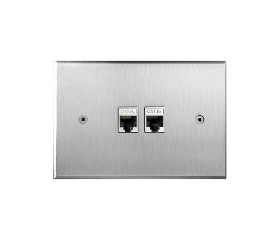 Cullinan - Brushed nickel - 2 RJ by Atelier Luxus | Ethernet ports