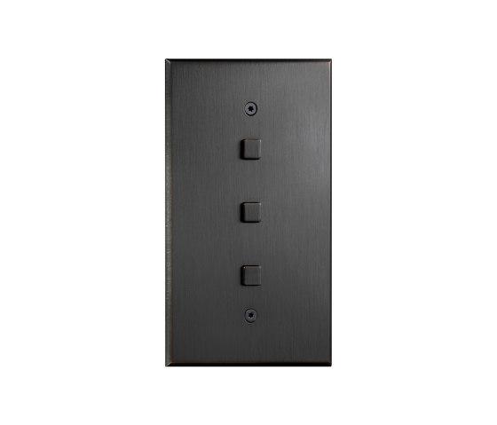 Cullinan - Mediumbronze - squarebutton by Atelier Luxus   Push-button switches