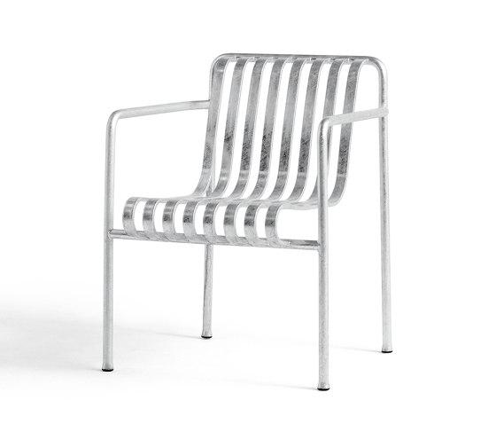 Palissade Dining Armchair Hot Galvanised de HAY | Sillas