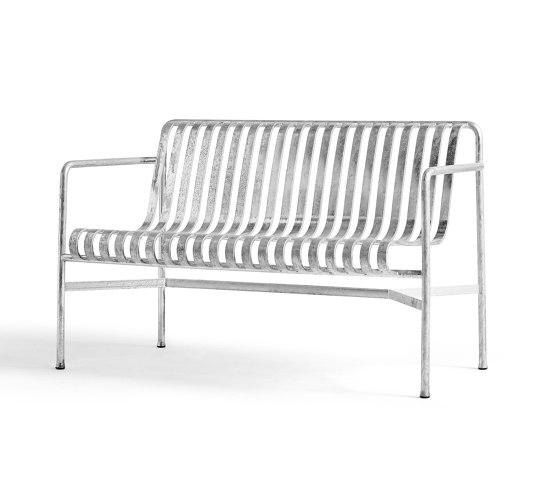 Palissade Dining Bench Hot Galvanised von HAY | Sitzbänke