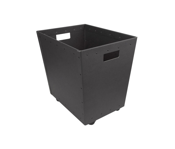 Stackable paper tray with wheels, graphite by BIARO | Waste baskets