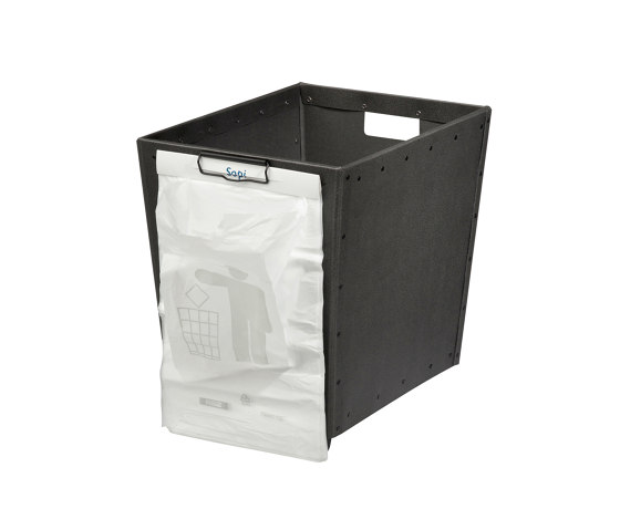 Stackable paper tray with wheels and clips, graphite by BIARO | Waste baskets