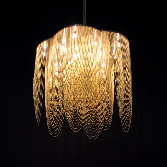 Rose - 700 - long - suspended by Willowlamp | Suspended lights