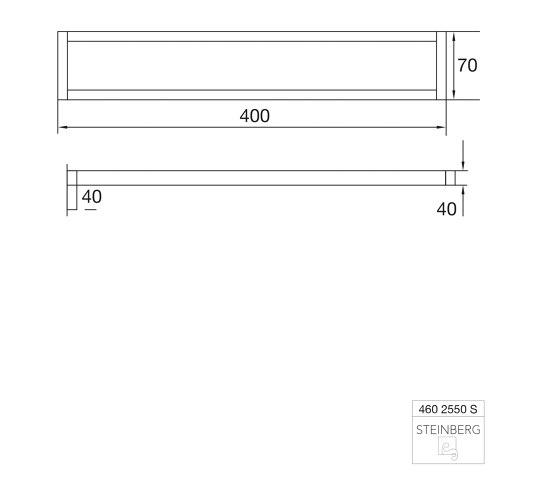 460 2550 S Towel holder by Steinberg | Towel rails