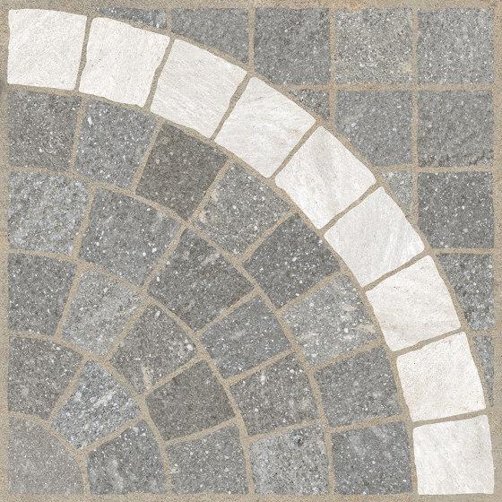 Aurelia Grigio | Arco Bianco by Rondine | Ceramic panels