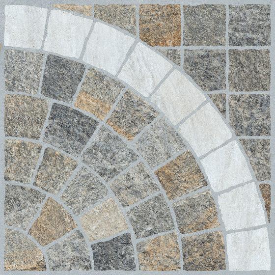 Emilia Multicolor| Arco Bianco h20 de Rondine | Planchas de cerámica