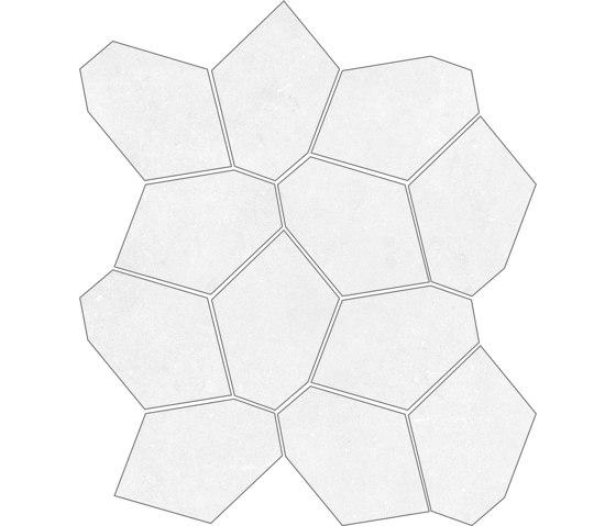 Concrete White | Mosaico di Rondine | Piastrelle ceramica