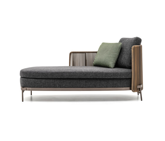 Tape Cord Outdoor paolina by Minotti | Chaise longues
