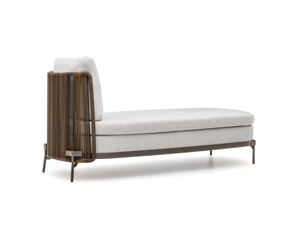 Tape Cord Outdoor daybed by Minotti | Chaise longues