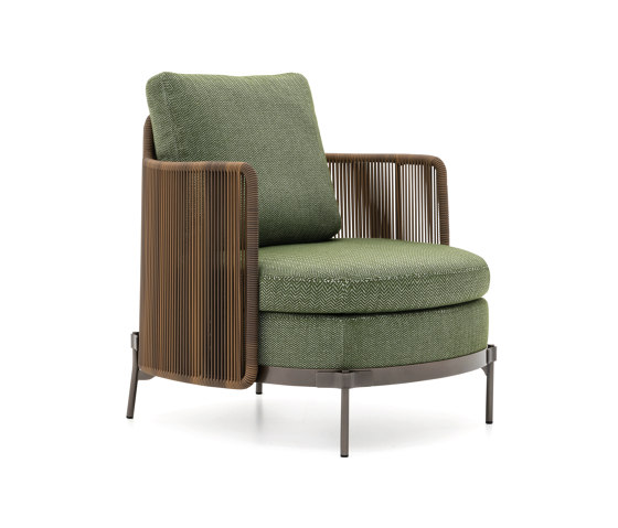 Tape Cord Outdoor armchair by Minotti | Armchairs