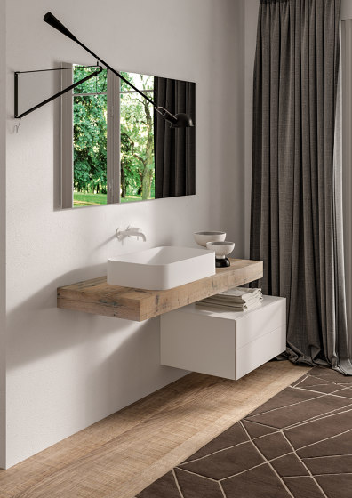 Legno Solid and Vintage Tops by Berloni Bagno   Wash basins
