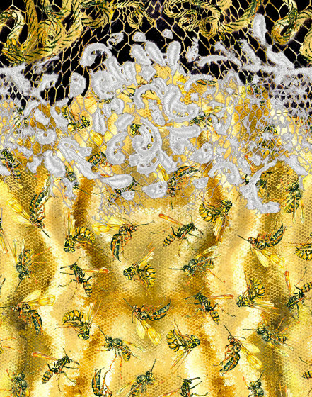 Honey Bees | artist wallpaper by Ginny Litscher | Wall coverings / wallpapers