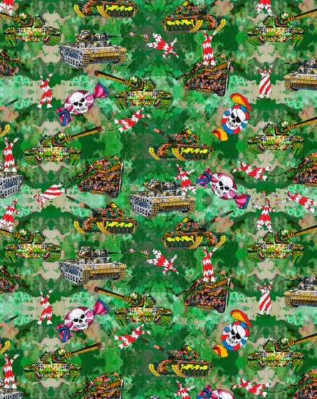 Playing with Tanks | artist wallpaper by Ginny Litscher | Wall coverings / wallpapers