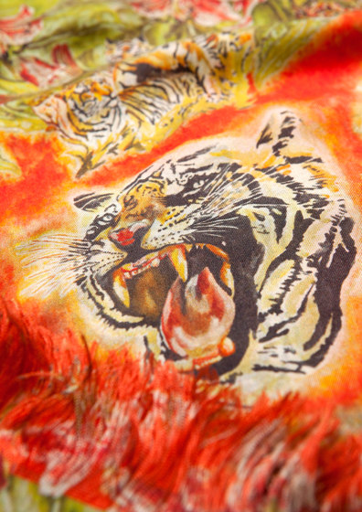 Tiger | artist wallpaper by Ginny Litscher | Wall coverings / wallpapers
