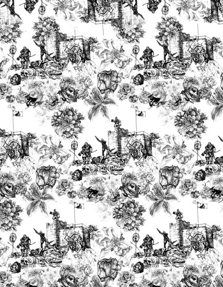 Warriors white | artist wallpaper by Ginny Litscher | Wall coverings / wallpapers