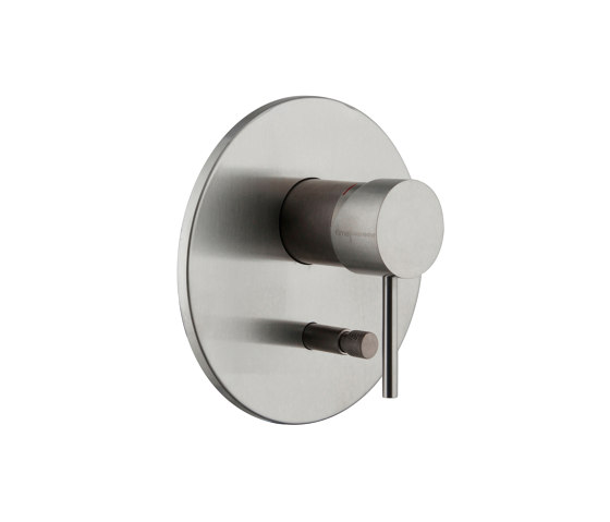 Spillo Steel F3079X2 | Single lever bath and shower mixer for concealed installation with 2 outlets diverter by Fima Carlo Frattini | Shower controls