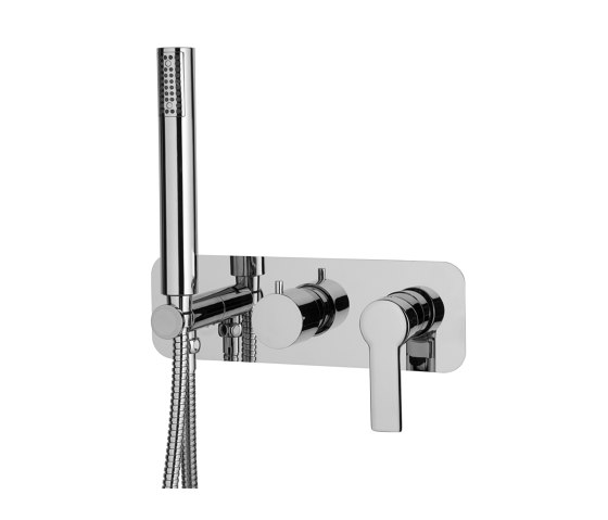 Mast F3149X2 | Single lever bath and shower mixer for concealed installation 2 outlet with shower set by Fima Carlo Frattini | Shower controls