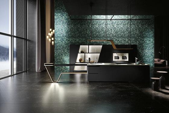 Vision | Super Matt lacquer Pure black by Snaidero USA | Fitted kitchens