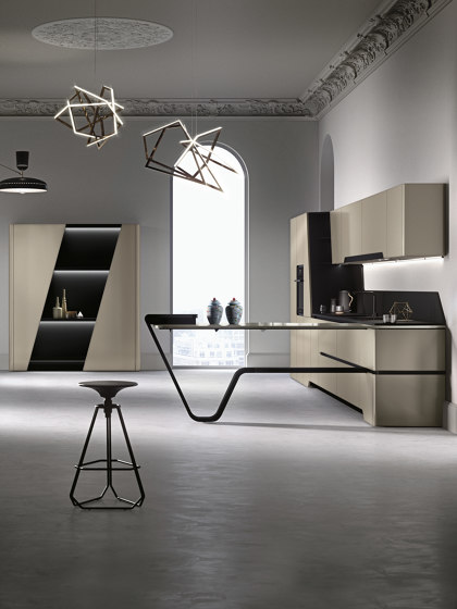 Vision | Cement grey by Snaidero USA | Fitted kitchens