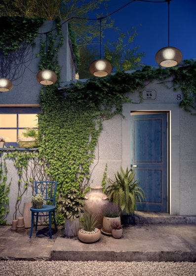 Garota Catenary S/27/4L Outdoor by BOVER | Outdoor pendant lights