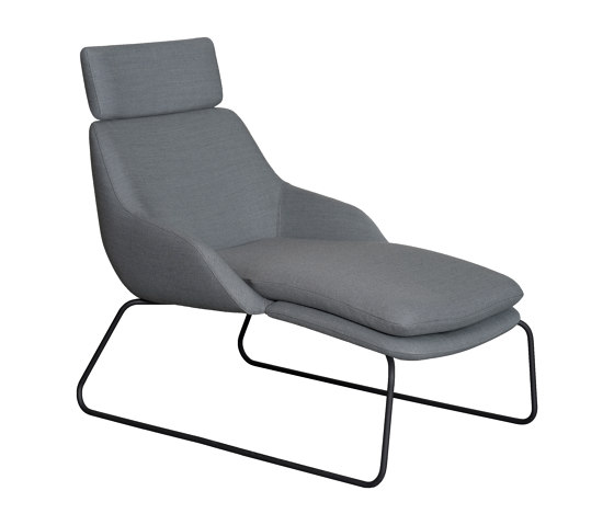 Blue chaise longue by Casala | Chaise longues