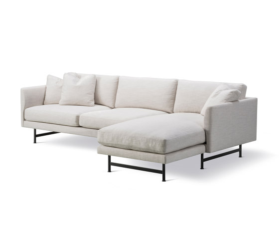 Calmo 3 Seater Chaise 80 Metal Base by Fredericia Furniture | Sofas