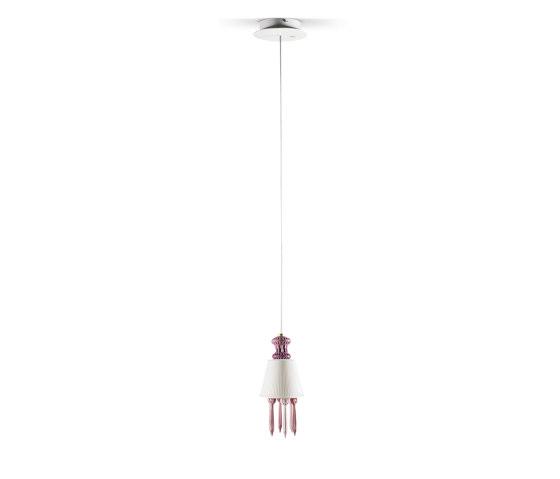Belle de Nuit Ceiling Lamp with Lithophane | Pink (CE/UK) by Lladró | Suspended lights