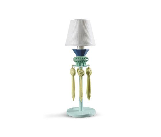 Belle de Nuit Lithophane Lamps with Tears | Green (CE) de Lladró | Luminaires de table