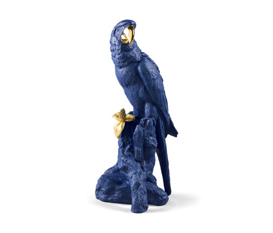 Bold Blue Collection | Macaw Bird Sculpture | Limited Edition by Lladró | Objects