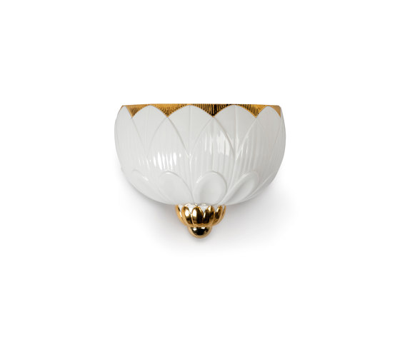 Ivy & Seed Wall Sconce | White and Gold (CE/UK) de Lladró | Appliques murales