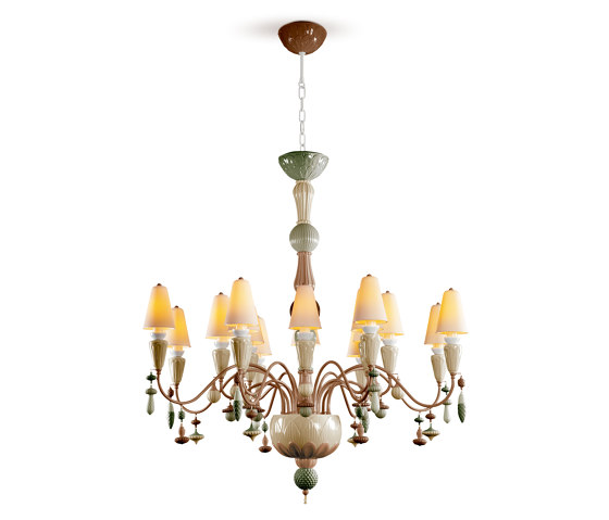 Ivy and Seed 16 Lights Chandelier | Medium Flat Model | Spices (CE/UK) de Lladró | Chandeliers