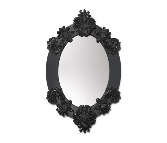 Mirrors | Oval Wall Mirror | Black | Limited Edition by Lladró | Mirrors