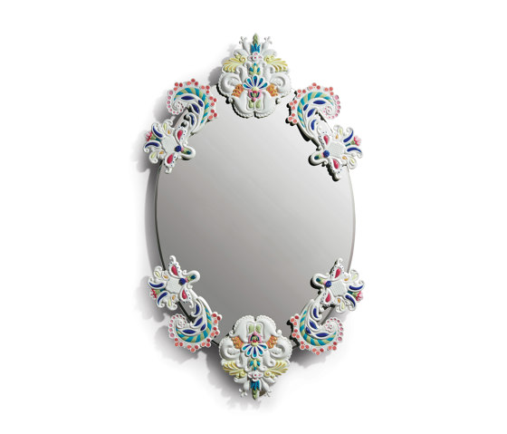 Mirrors   Oval Wall Mirror without Frame   Multicolor   Limited Edition by Lladró   Mirrors