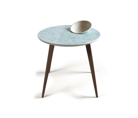 Moments Crystal Table With bowl | Wenge de Lladró | Tables d'appoint