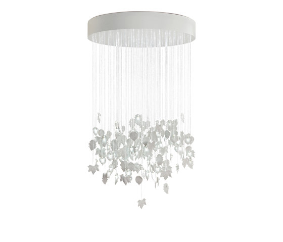 Re-cyclos Magic Forest Chandelier 1.35m (CE/UK) | White de Lladró | Suspensions