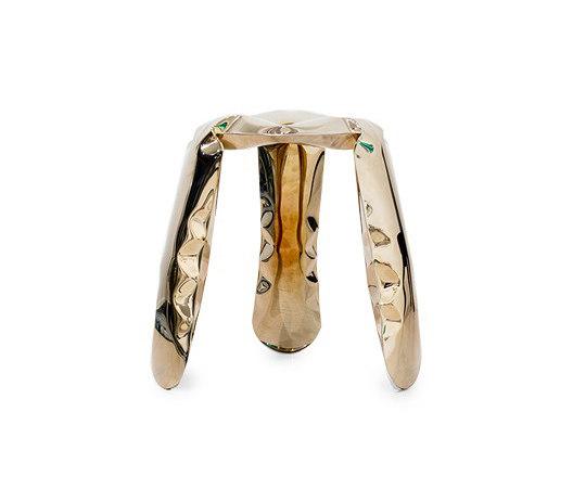 Plopp Stool Mini Heat Flamed Gold by Zieta | Stools