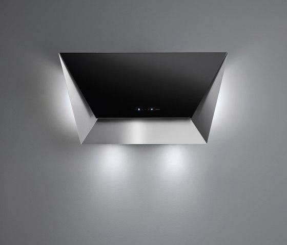 Design | Prisma Wall 115cm Black by Falmec | Kitchen hoods