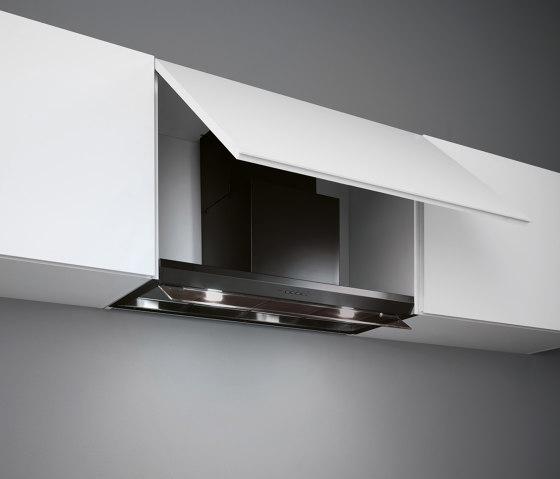 Design   Virgola 90cm Black by Falmec   Kitchen hoods