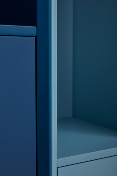 Vertiko cabinet furniture module lacquered in 20 colours by Müller small living | Cabinets