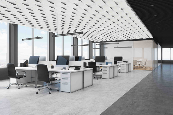 A2 by drapilux | Sound absorbing ceiling systems