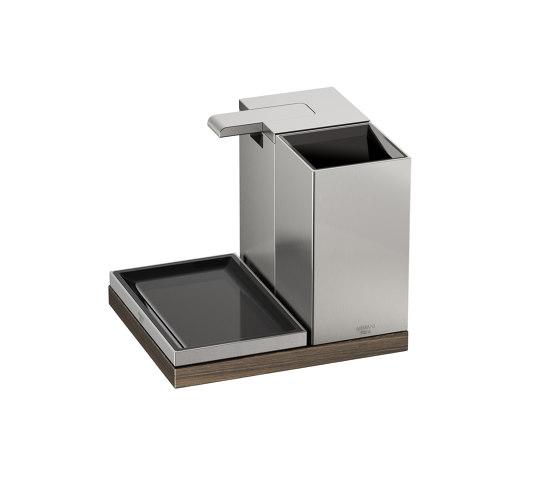 ACCESSORIES | 3 piece accessories set | Brushed Steel von Armani Roca | Seifenspender / Lotionspender