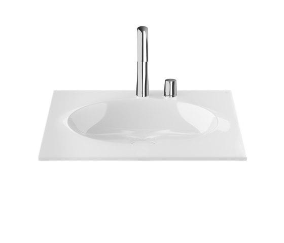 BASINS | Coutertop Washbasin 650 mm | Glossy White by Armani Roca | Wash basins