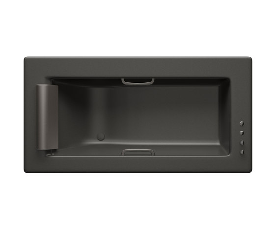 BATHS | Built-in bathtub 2145 x 1100 mm with deck mounted thermostatic faucet | Nero by Armani Roca | Bathtubs