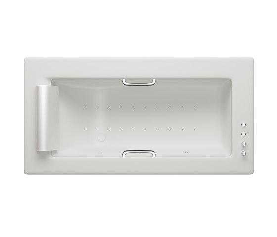BATHS | Built-in bathtub 2145 x 1100 mm with Soft-Air massage | Off White by Armani Roca | Bathtubs