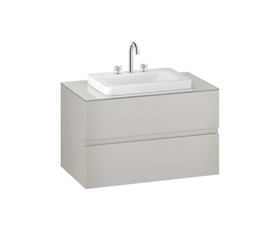 FURNITURE | 1000 mm wall-hung furniture for over countertop washbasins and deck-mounted basin mixers | Silver by Armani Roca | Vanity units