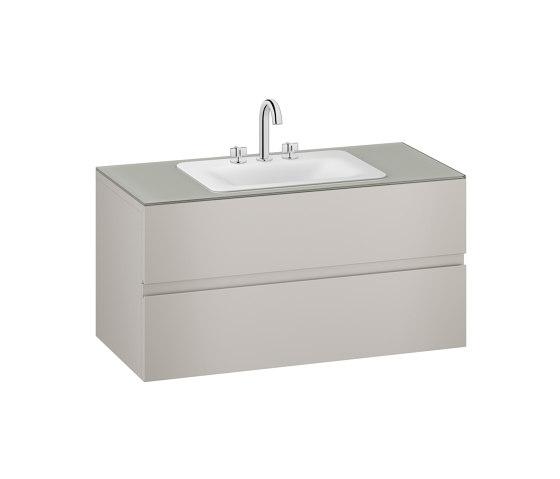 FURNITURE   1200 mm wall-hung furniture for countertop washbasin and deck-mounted basin mixer   Silver by Armani Roca   Vanity units